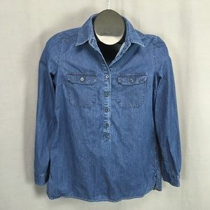 Old Navy Shirt Size XS Blue Womens Popover